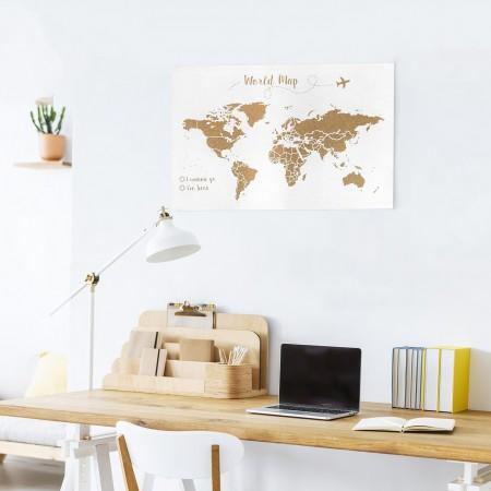 Liège carte du monde fond blanc