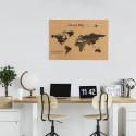 Corcho mapa del mundo negro