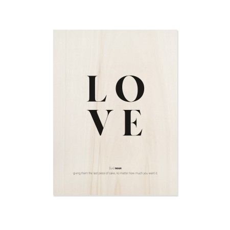 Boîte en bois Love definition