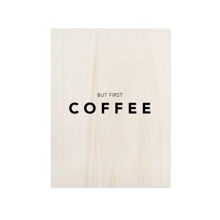 Boîte en bois First Coffee