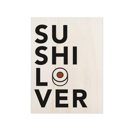 Boîte en bois Sushi Lover