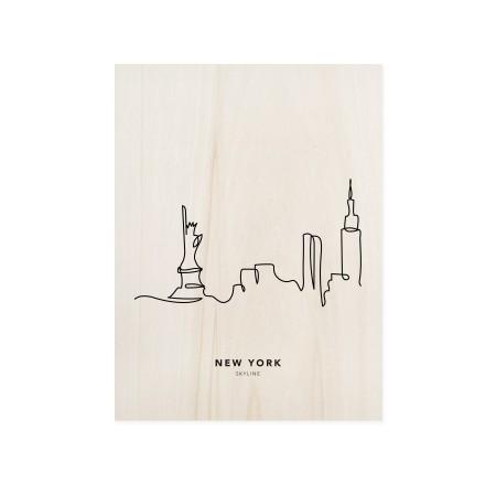 Boîte en bois New York Skyline