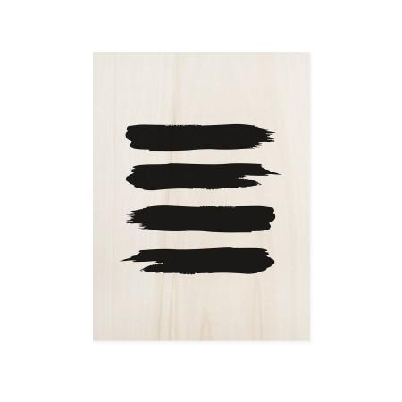 Boîte en bois Abstract Lines