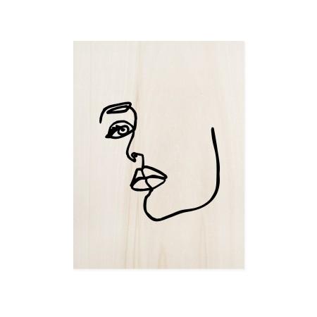 Boîte en bois Face Mood I