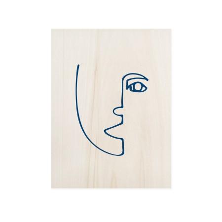 Boîte en bois Blue Face