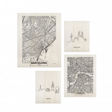 Pack de tableaux Barcelona & London