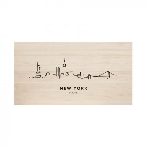 Tête de lit naturel New York Skyline