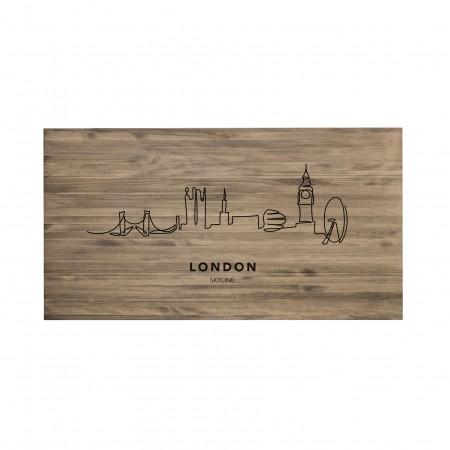 Tête de lit vieilli London Skyline