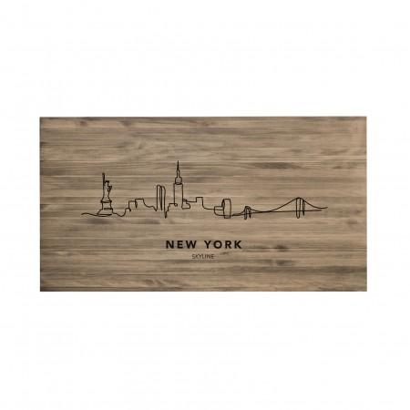 Tête de lit vieilli New York Skyline