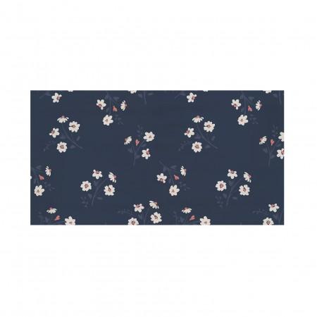 Tête de lit décapée Flower blu