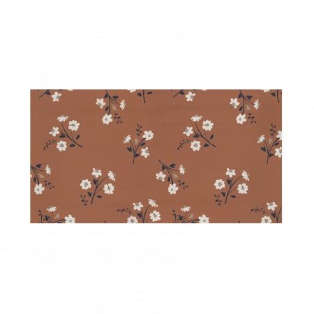 Tête de lit décapée Flower terracotta