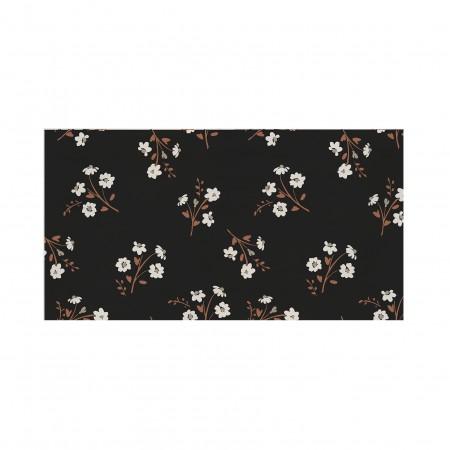 Tête de lit décapée Flower noir