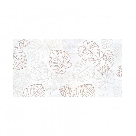 Tête de lit décapée Leaves Lines