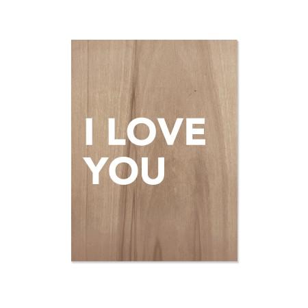 Boîte en bois I love you