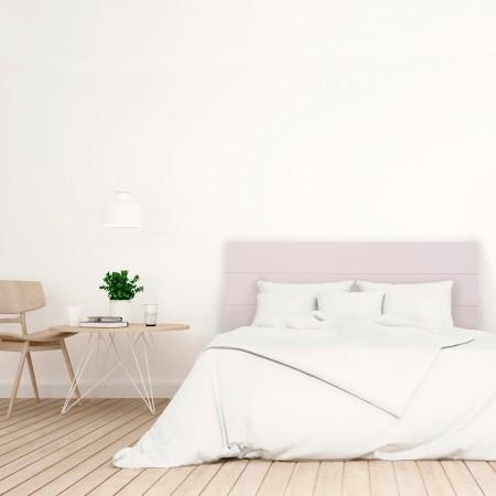 Tête de lit en bois pastel rose