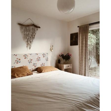 Tête de lit décapée Flower naturelle