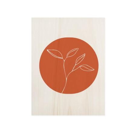 Boîte en bois Flower Terracotta