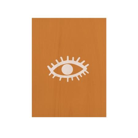 Boîte en bois Eye Yellow