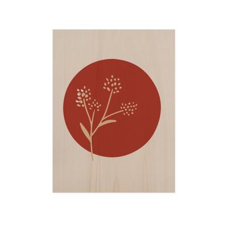 Boîte en bois Flower Terracotta II