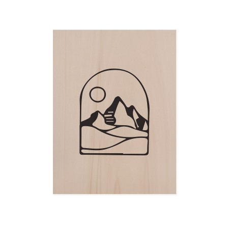 Boîte en bois Mountain