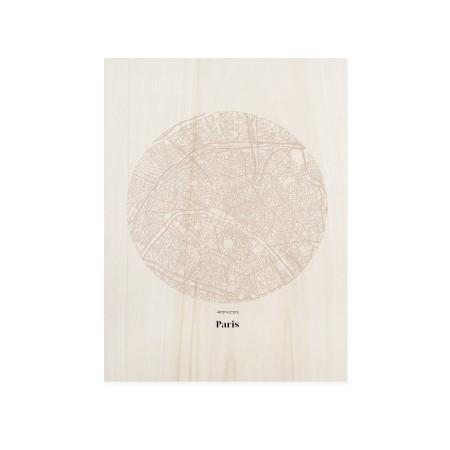 Boîte en bois Paris Map