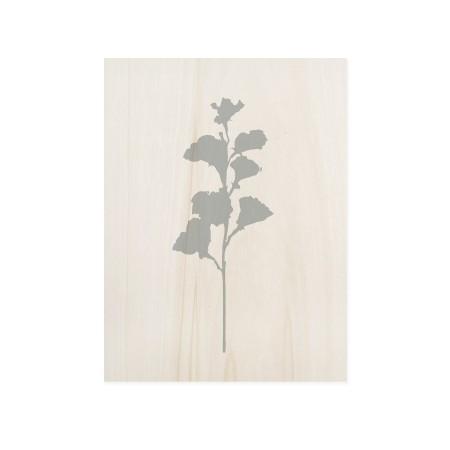 Boîte en bois Blue Plant I