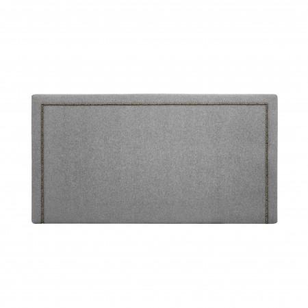 Tête de lit polyester Nils gris