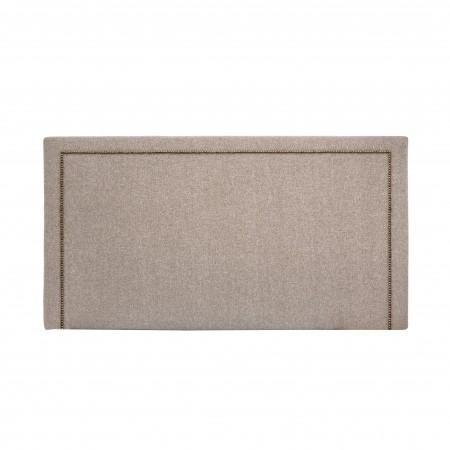 Tête de lit polyester Nils brun
