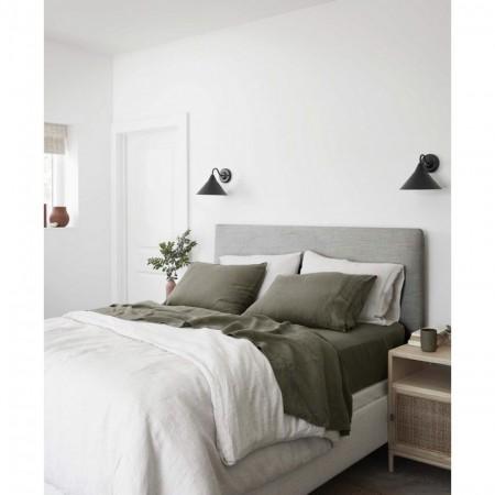 Tête de lit polyester lisse gris