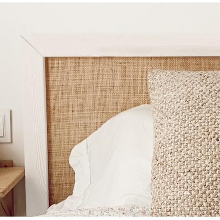 Tête de lit Ellen raphia blanc